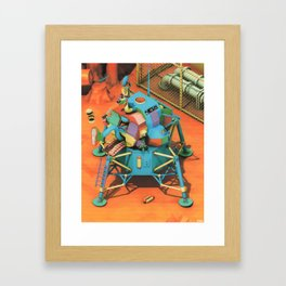 THE LANDER HAS LANDED Framed Art Print