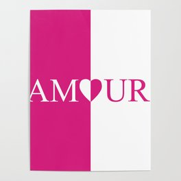 Amour Pink Design Poster
