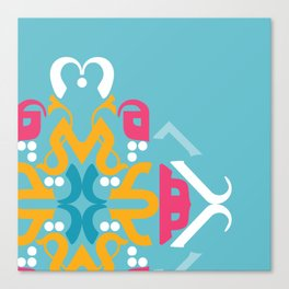 Blue Arabic Canvas Print