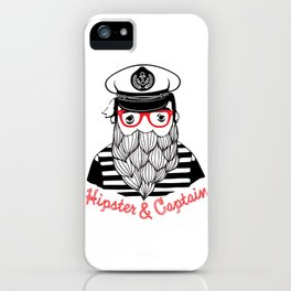 Captain & Hipster iPhone Case