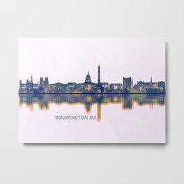 Washington D.C. Skyline Metal Print