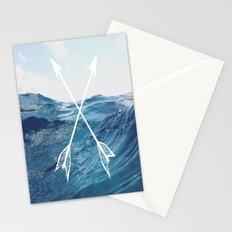 Deep sea arrows Stationery Cards