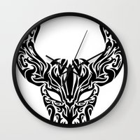 taurus Wall Clocks featuring Taurus by Mario Sayavedra