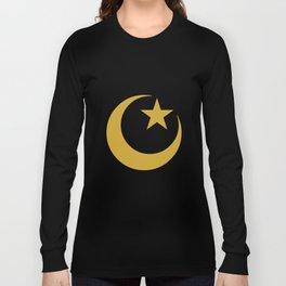 Golden Star & Crescent Long Sleeve T-shirt
