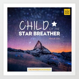 Child of the Star Breather Art Print