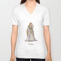 valar morghulis V-neck T-shirts featuring Vana by wolfanita