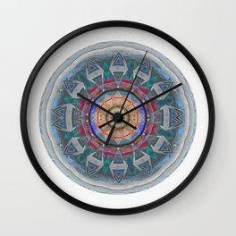 Eye of Cosmic Love Sacred Geometry Ancient Mandala Print Wall Clock