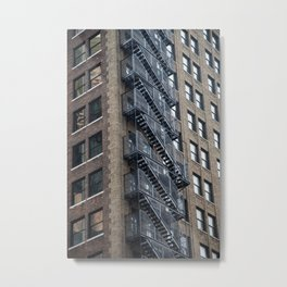 Kate Moss trapped in a building Metal Print