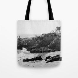 Leo Carrillo State Beach | Malibu California | Black and White Photography | Malibu Photography Tote Bag
