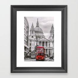 London Classic Bus Framed Art Print