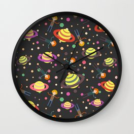 Dreamers and planets Wall Clock