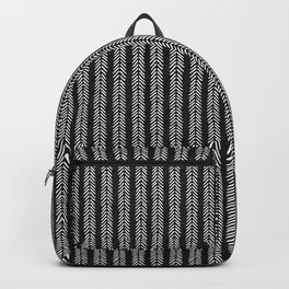 Mud cloth - Black and White Arrowheads Backpack