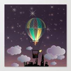 Balloon Aeronautics Night Canvas Print