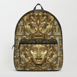 """Ancient Golden and Silver Medusa Myth"" Backpack"