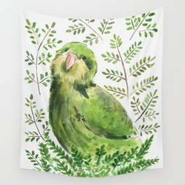 Kakapo in the ferns Wall Tapestry