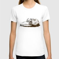 shih tzu T-shirts featuring Little Shih Tzu by Louise Hubbard