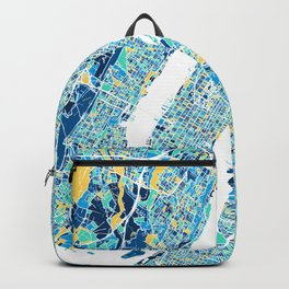 New York City Map United states full color Backpack
