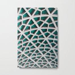 Quad-Triangular Pattern Metal Print
