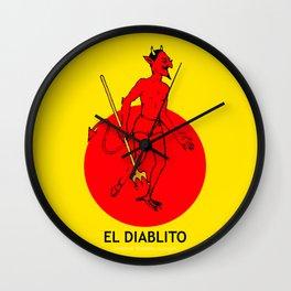 El Diablito Mexican Loteria Wall Clock