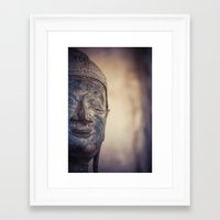 buddhism Framed Art Prints featuring Buddha in Haw Phra Kaew, Laos by Maria Heyens