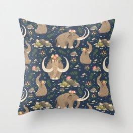 Cute mammoths Throw Pillow