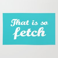 mean girls Area & Throw Rugs featuring Mean Girls #3 – Fetch by Enyalie