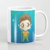 stiles Mugs featuring Aqua Stiles by dephigravity