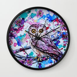 Little Owls version 3 Wall Clock