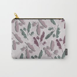 Feathers watercolor Carry-All Pouch