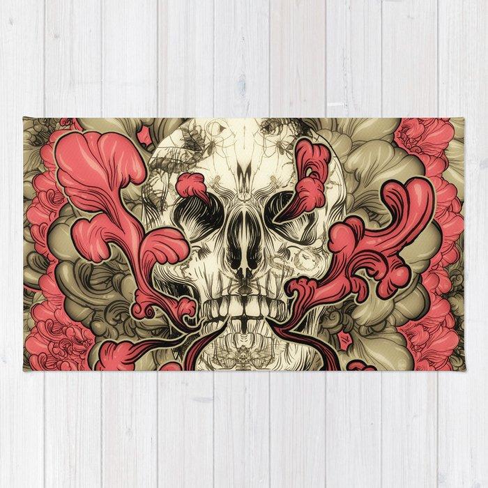 Tattooed Skull Rug