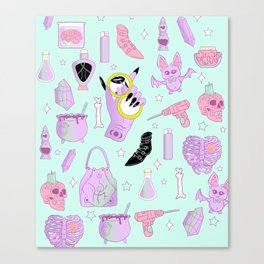 Witchy Pastel Goth: My Favorite Things Canvas Print