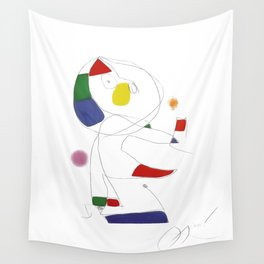 Joan Miro, Hommage a San Lazzaro 1977 Artwork for Wall Art, Prints, Posters, Tshirts, Men, Women, Youth Wall Tapestry