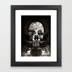 Room Skull B&W Framed Art Print