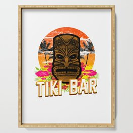 Follow Me To The Tiki Bar Hawaiian Luau Party Pun Design Vacation Gift Serving Tray