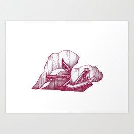 Heart Under Construction Art Print