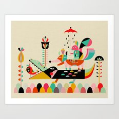 Wired Jungle Art Print