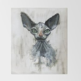 Sphynx cat Throw Blanket