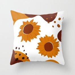 A Pair Of Sunflower Throw Pillow