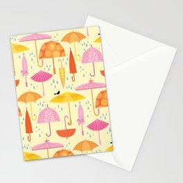 Pretty Parasols for Precipitation Stationery Cards