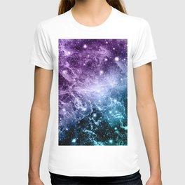Purple Teal Galaxy Nebula Dream #4 #decor #art #society6 T-shirt