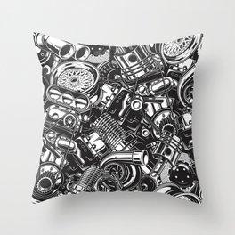 Automobile car parts pattern Throw Pillow