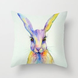 Hare Art Print Throw Pillow
