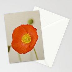 Poppy Flower Red Orange Yellow Bloom Stationery Cards