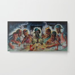 """Hip-Hop Last Supper"" Metal Print"