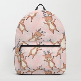 Christmas Deer Pattern Backpack