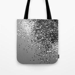 Sparkling Silver Gray Lady Glitter #1 #shiny #decor #art #society6 Tote Bag