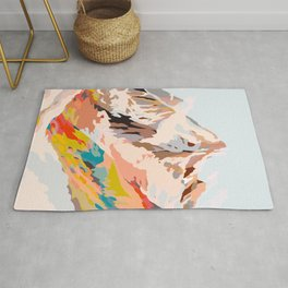 glass mountains Rug