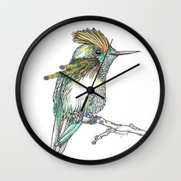 The Tufted Coquette Wall Clock