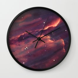 Space Nebula Wall Clock