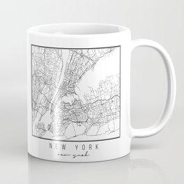 New York New York Street Map Coffee Mug
